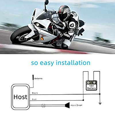 Rupse Wireless Alarm System Motorcycle Bicycle Bike Anti Theft Security Burglar Double Remote Control Warner Horn Adjustable Sensitivity: Automotive