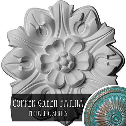 Ekena Millwork CM07EMCGS Emery Leaf Ceiling Medallion, Copper Green Patina