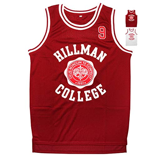 kobejersey Wayne #9 Hillman College Theater Basketball Jersey S-XXXL (Red, S)