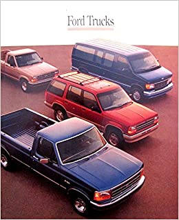 VERY COLLECTIBLE ORIGINAL 1992 FORD PICKUP SUV & VAN FULL