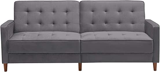 Velvet Futon Sofa Bed