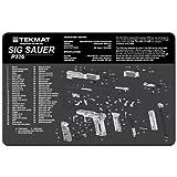 Beck Tek TekMat 11-Inch X 17-Inch Handgun Cleaning Mat with Sig Sauer P226 Imprint, Black