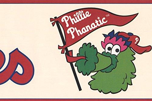 Philadelphia Phillies MLB Baseball Team Fan Phanatic Sports Wallpaper Border Modern Design, Roll 15' x - Tool Mlb Team