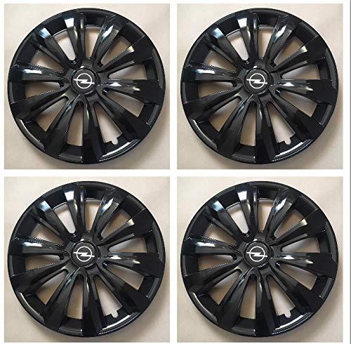 Unit.ec 4X Radkappen 15 Zoll in schwarz f/ür Opel Inkl Embleme