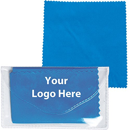 Microfiber Cleaner Cloth In Pouch - 250 Quantity - 1.10 Each - PROMOTIONAL PRODUCT/BULK/BRANDED with YOUR - Promotional Clothing Customized