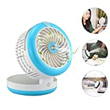 Misting Mini Fan,NUTK 3 in 1 Fan+Humidifier+Power Bnak,Portable Desktop Rechargeable USB Desk Cooling Fans ,Personal Water Spray Fan for Girls Womens Office.Blue