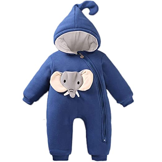 f9413d4e8cbf Amazon.com  Baby Girls Boys One Piece Cartoon Animal Hoodie Jumpsuit Romper   Clothing