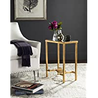 Safavieh Home Collection Mita Mirror Top Gold Leaf End Table