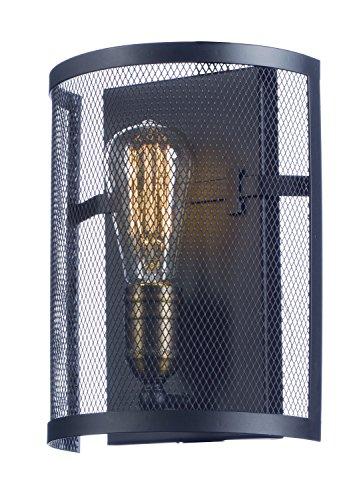 Maxim 20112BKNAB/BUI, Palladium Incandescent Wall Sconce, 1 Light, 60 Watts, Black / Natural Aged Br