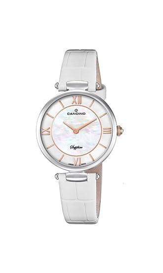 Candino Reloj Análogo clásico para Mujer de Cuarzo con Correa en Cuero C4669/1: Amazon.es: Relojes
