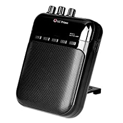 "LC Prime Aroma Guitar Amp Mini Portable Clip Amplifier Speaker Recorder 2 in 1 Chargeable w/ TF Card Slot for Acoustic Electric Guitar, Electric Guitar, Electric Violin Accept 1/4"" Guitar Cable Highlight: 1) Built in speaker, work without hea..."