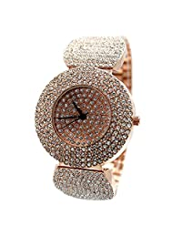 USFW868A Rose Gold Tone Band Rose Gold Tone Watchcase Ladies Crystal Fashion Watch
