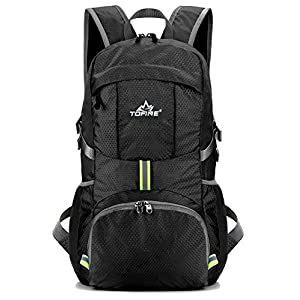Getseason Packable Travel Hiking Backpack Daypack Lightweight 35L (Black)