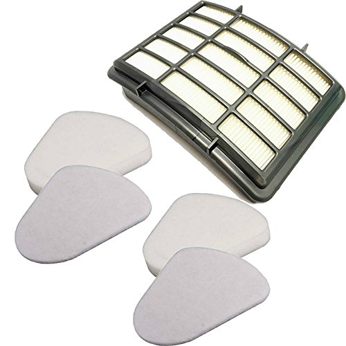 2 Pack Filter Kit for Shark Navigator Filter Nv350 Nv351, Nv352, Nv355, Nv356, Nv357 Pre-filter Foam and Felt + 1 Hepa Filter Replacement Part # Xff350 & # Xhf350 by ZLZH