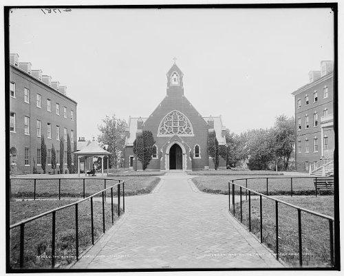 Photo: Church,Dahlgren Chapel,colleges,paths,Georgetown University,Washington DC,c1904