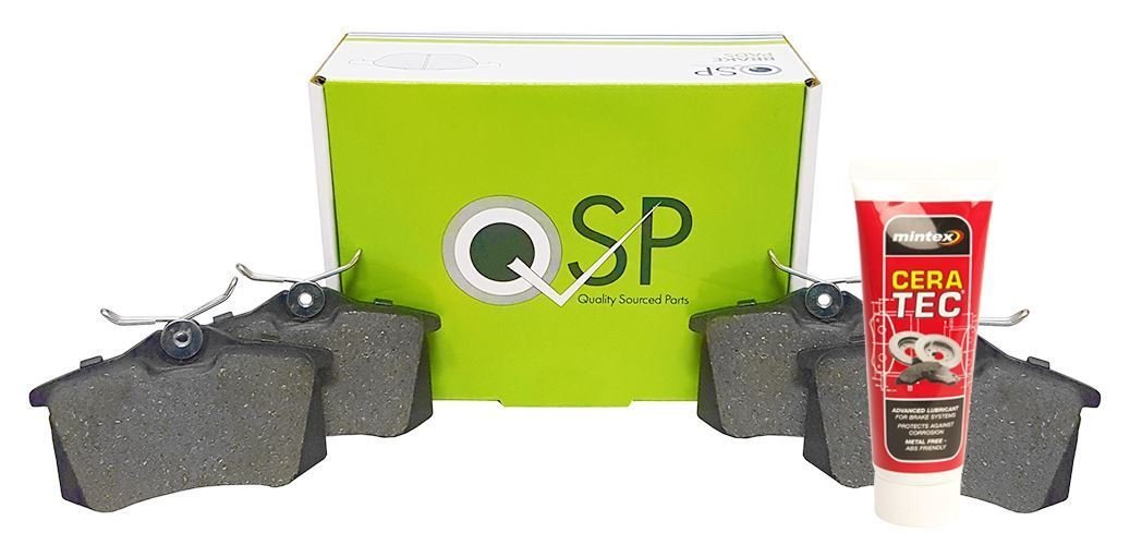 QSP Front Brake Pads With Anti Squeal Grease QSPWBP0051+QSPMINCERA02