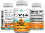 Cheap 100% Pure Extra Strength All Natural Turmeric Curcumin with BioPerine Pain Relief & Joint Support No Fillers High Absorption Premium 2 Month Supply Turmeric Capsules with Black Pepper