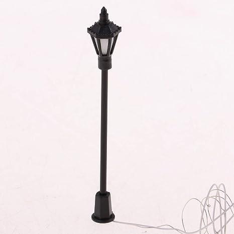 20pc Model Street Lamp Garden Street Light for HO OO TT Scale 1:150 LEDs