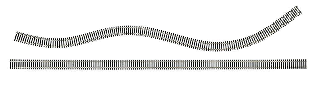 Bachmann 36'' NICKEL SILVER FLEX TRACK - CODE 100 (25/Box) - HO Scale
