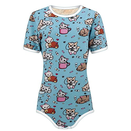 The Littlest Gift Shop Adult Baby Little Kitten Snap Crotch ABDL Onesie Romper by The Littlest Gift Shop