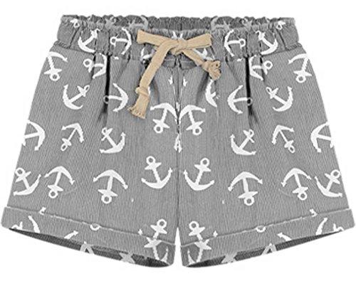 QZUnique Womens Casual Elastic Shorts