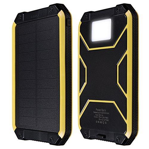 DealMux Cargador Solar, 10000 mAh Dual USB Banco de la ...