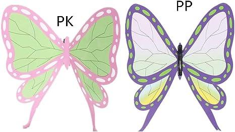 髪飾り イラスト カナヲ 胡蝶しのぶの蝶の髪飾りを手作り!プラバンで超簡単に蝶々のアクセサリー作ってみた!(フリー画像あり)