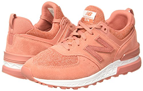574 Corail blanc Chaussures Rose Sport Lifestyle Balance New aqwXAA