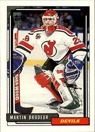 Amazon Com 1992 Topps Hockey Card 1992 93 513 Martin Brodeur