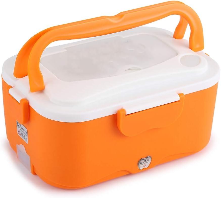 12V Lunch Box - 1.5L Portable 12V / 24V Calentador eléctrico de calefacción de automóviles Bento Food Warmer Container para viajar (tamaño : Orange 24V)