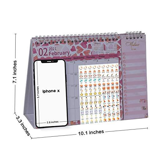 2022 Desktop Calendar.2021 2022 Desk Calendar Mini Monthly Desktop Calendar With To Do Lists Academic Year Standing Desk Calendars Jan 2021 Jun 2022 With Planner Stickers Pricepulse