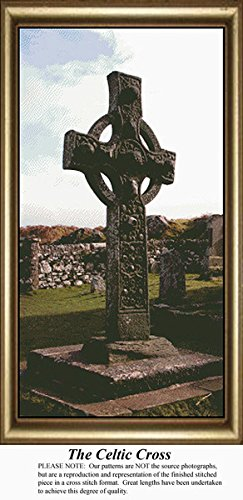 The Celtic Cross, Irish Counted Cross Stitch Pattern (Pattern Only, You Provide the Floss and Fabric)