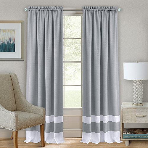 Achim Home Furnishings Halley Window in a Bag, 56 84-Inch, Taupe, Rod Pocket Panel 52