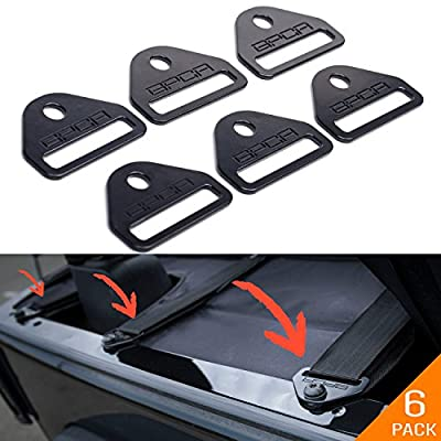 GPCA Tie-Down D-Ring/D-Plate Buckle for Jeep Wrangler JL JK YJ LJ TJ CJ Sport Sahara Rubicon Unlimited 4 Door/ 2DR, (6 Pack Tie-Down D-Plate): Automotive