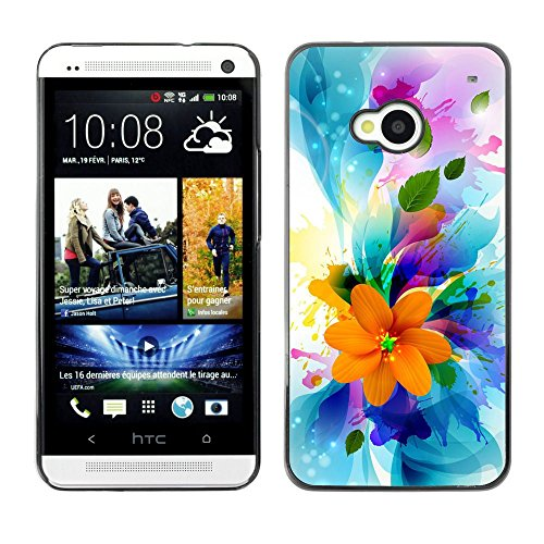 Plastic Shell Protective Case Cover || HTC One M7 || Flowers Spring Colorful Blossom Bouquet @XPTECH