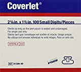 BSN Medical 01306 Coverlet Fabric Adhesive Bandage, Latex Free, Fingertip, Small (Pack of 100) 2 Pack