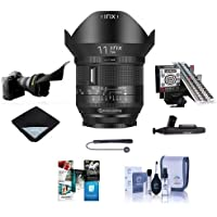 IRIX 11mm f/4.0 Firefly Lens for Nikon DSLR Cameras, Manual Focus - Bundle With LensAlign MkII Focus Calibration System, Flex Lens Shade, Lens Wrap, Cleaning Kit, Software Package, And More