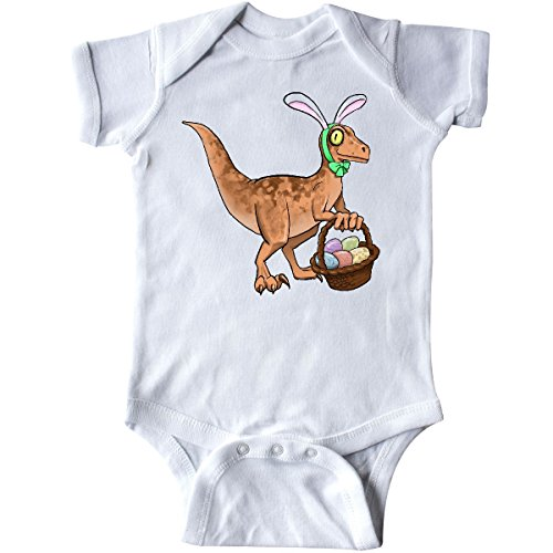 inktastic - Easter Velociraptor with Bunny Infant Creeper 6 Months White 289be