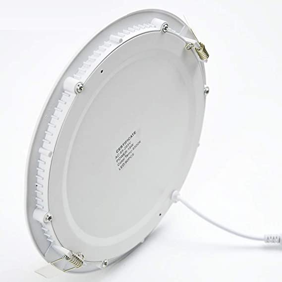 Amazon.com: 2 luces LED redondas planas de 18 W, ultra finas ...