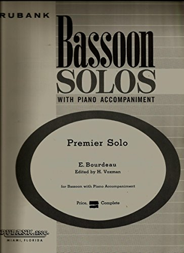 Premier Solo Bassoon Solos with Piano Accompaniment (Bassoon Solos with Piano Accompaniment)