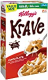 Kellogg's Krave Family Size Cereal, Milk Chocolate, 19.9 Ounce (Pack of 14)