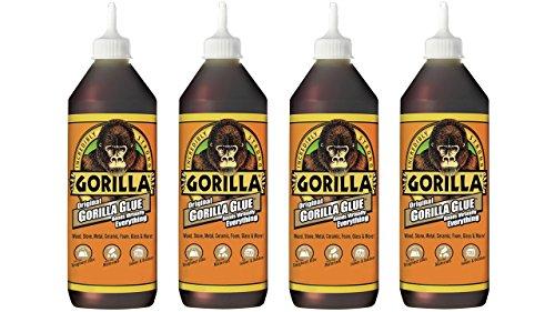 Gorilla Original Gorilla Glue, Waterproof Polyurethane Glue, 36 ounce Bottle, Brown, (Pack of 4) (Best Glue For Polyurethane)