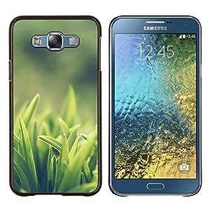Caucho caso de Shell duro de la cubierta de accesorios de protección BY RAYDREAMMM - Samsung Galaxy E7 E700 - Weed Verde