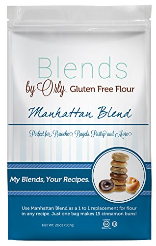 Blends By Orly - Gluten Free Baking Flour - Manhattan Blend - Gluten-free Pastry Flour for Donuts, Bagels and Specialty Breads 20 oz. Bag