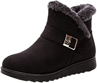 Cayuan Donna Stivali da Neve Scarpe Calde con Pelliccia Fodera Inverno Piatto Caviglia Stivaletti Antiscivolo Caviglia Scarponi