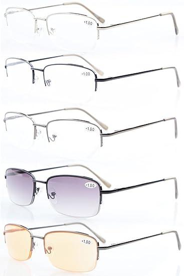 feacf4c6b2c 5-pack Eyekepper Metal Half-rim Spring Hinges Reading Glasses Include  Computer Readers +
