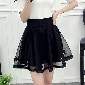 XSY Harajuku Moda de Verano para Mujer Cintura Alta Falda Plisada ...