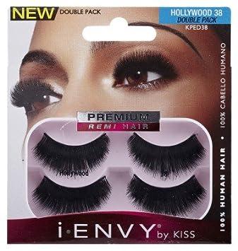09c5953d89c Amazon.com : Kiss I.Envy Double Pack Eye Lashes Hollywood KPED38 : Beauty