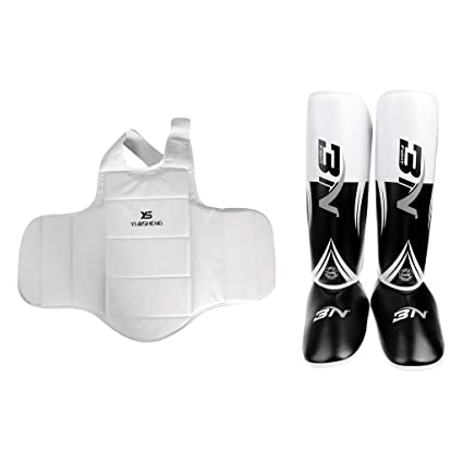 Buy Shin Instep Pads MMA Leg Foot Guards +Men Women Karate Chest Guard  Protector Online at Low Prices in India - Amazon.in 8e7af3512