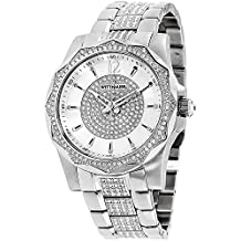 Wittnauer Men's Chevron Crystal Accent Stainless Steel Bracelet Watch